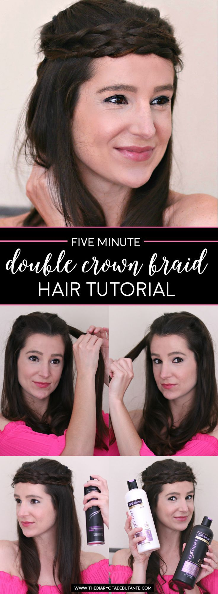 These braided hairstyles for medium hair take minutes or less