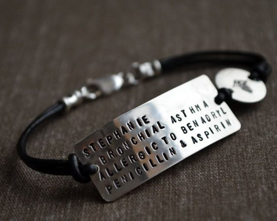 Silver Medical Alert Bracelet Personalize By Thoughtblossoms 50 00