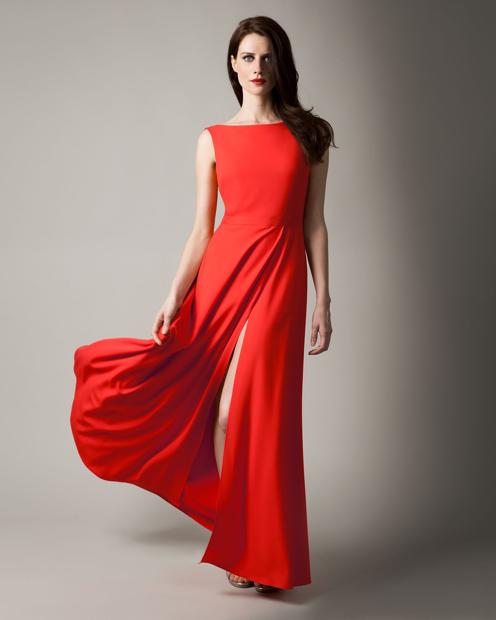 Long red dress for wedding  Vestido largo rojo Long red dress  Vestidos y zapatos  Pinterest