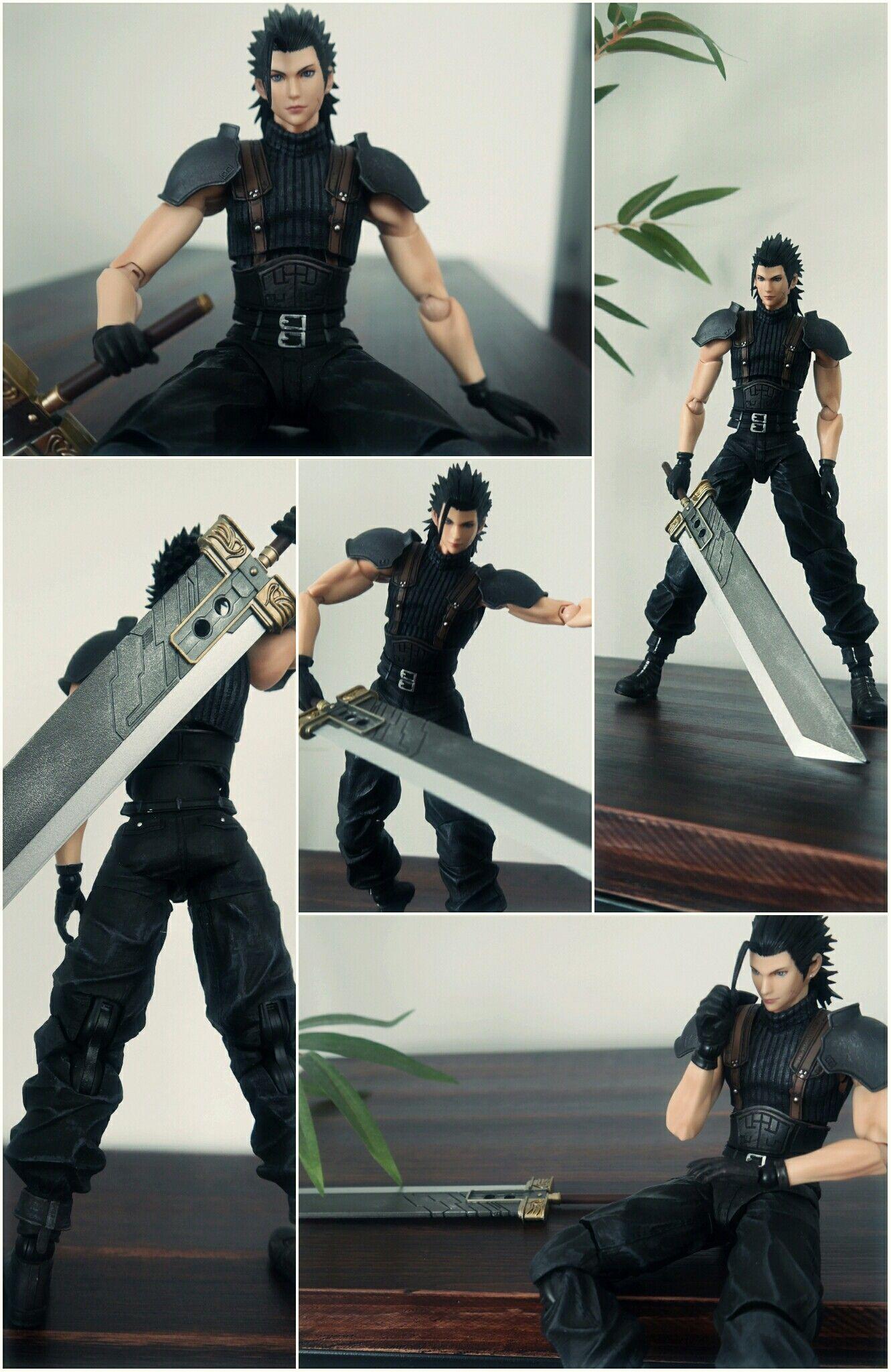 Square Enix Play Arts Kai Final Fantasy Crisis Core Zack Action Without Box