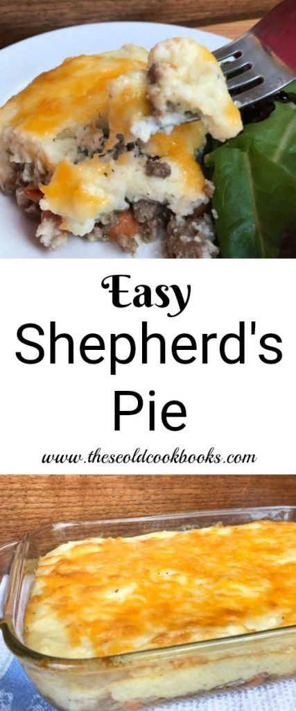 You can use pre-cooked mashed potatoes to quickly whip up this Easy Shepherd's Pie for a dinner that your entire family will love. #shepardspie