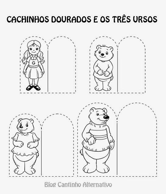 Cantinho Alternativo: Cachinhos Dourados e Os Três Ursos- Passo a ...