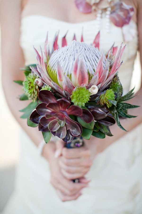 Croatia Wedding by Carmen and Ingo Photography | Protea bouquet ...