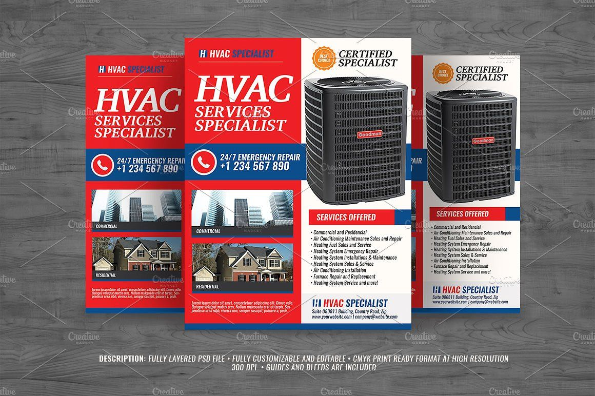 Hvac Services Flyer V3 Hvac Services Flyer Flyer Design Templates