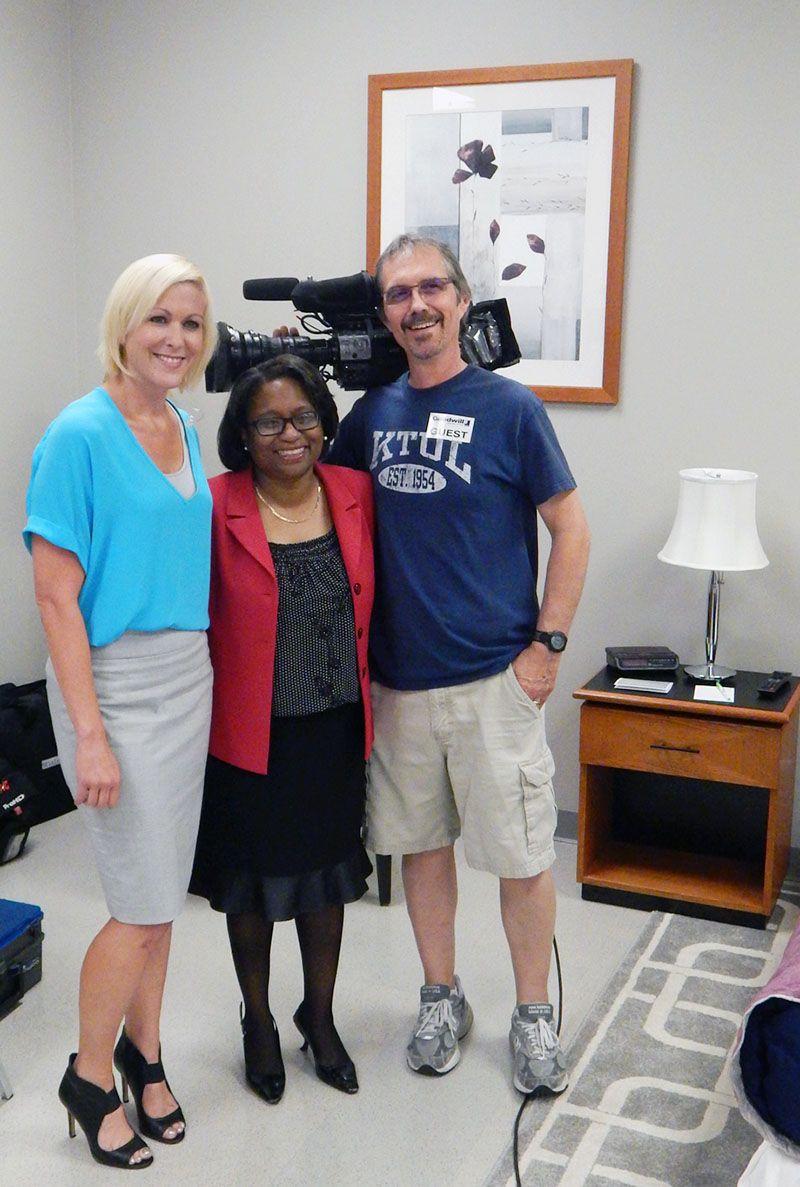 Anchor Erin Christy and cameraman Richard of KTUL News