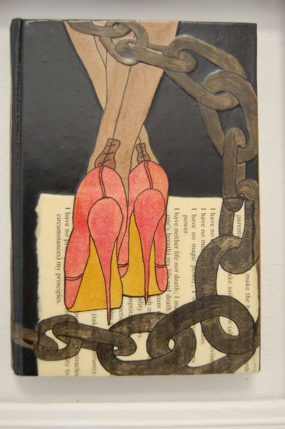Spike and Chain. Original and Unique Book Art. by Tezillustrator, £45.00