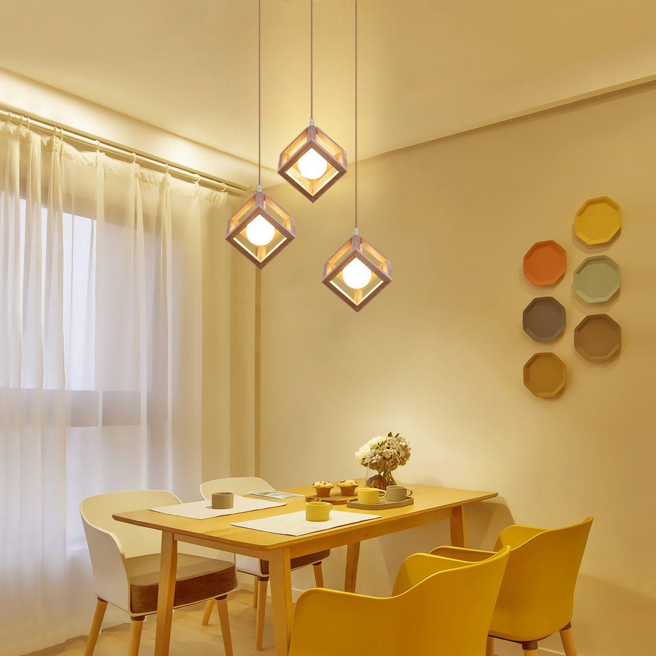 Mingdaxin Woodiness Pendant Lightcontemporary Diy Hanging Lamp Hangs Illumeadjust Suspension Height Ceiling Li Ceiling Lights Dining Room Lighting Wooden Light