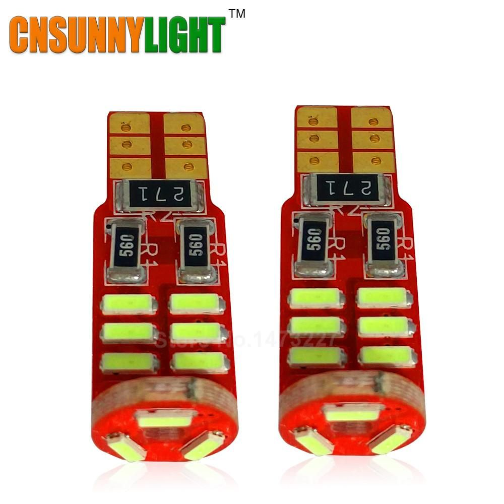 Car dashboard accessories toys  CNSUNNYLIGHT New Canbus Error Free T WW  SMD SMD LED High