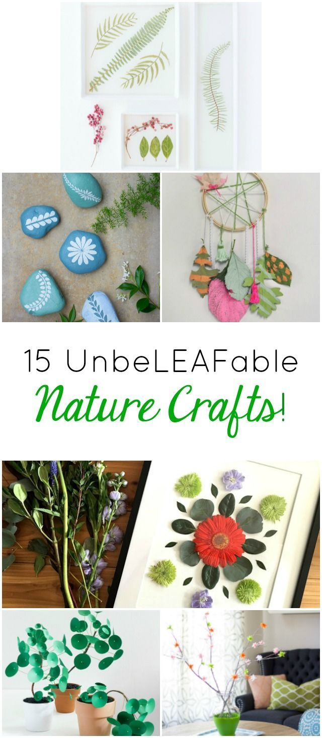 15 Unbeleafable Nature Crafts To Try This Summer Nature Crafts Summer Crafts Crafts