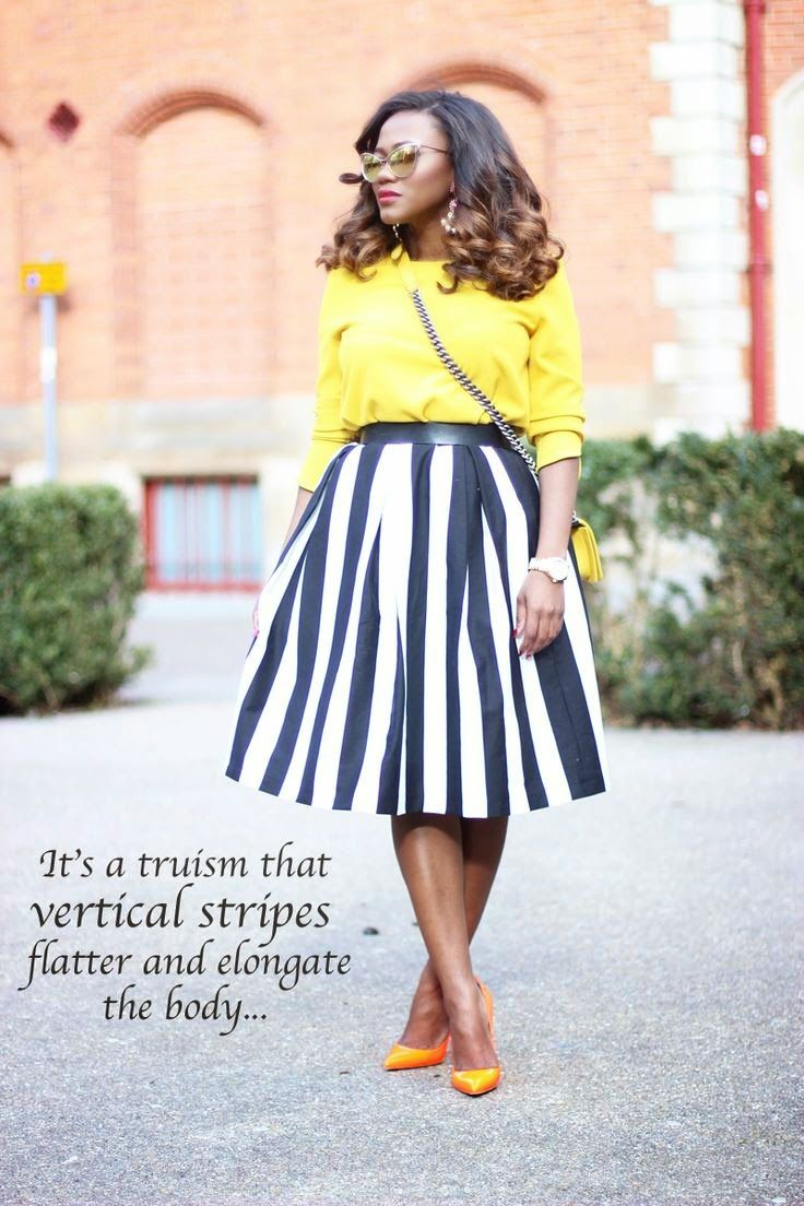 Style Is My Thing | Yellow top with a black and white striped ...