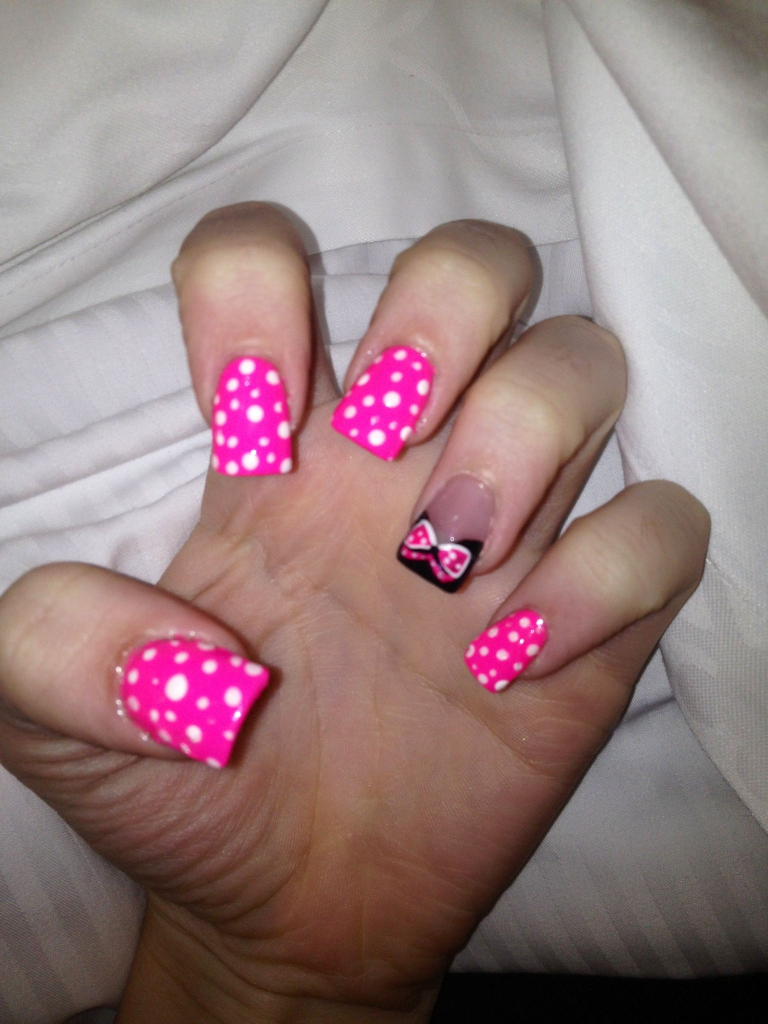 My Minnie Mouse nails :) | Danny\'s 1st Birthday | Pinterest ...