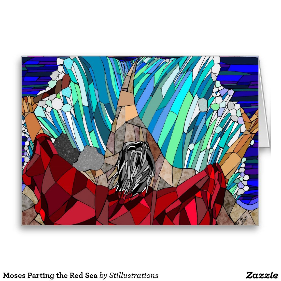 Moses Parting The Red Sea Stationery Note Card