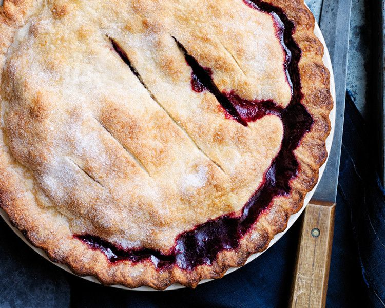 This pie is seasonless: Bake it in fall with fresh cranberries and frozen raspberries and blueberries. Come summer, use the reverse.