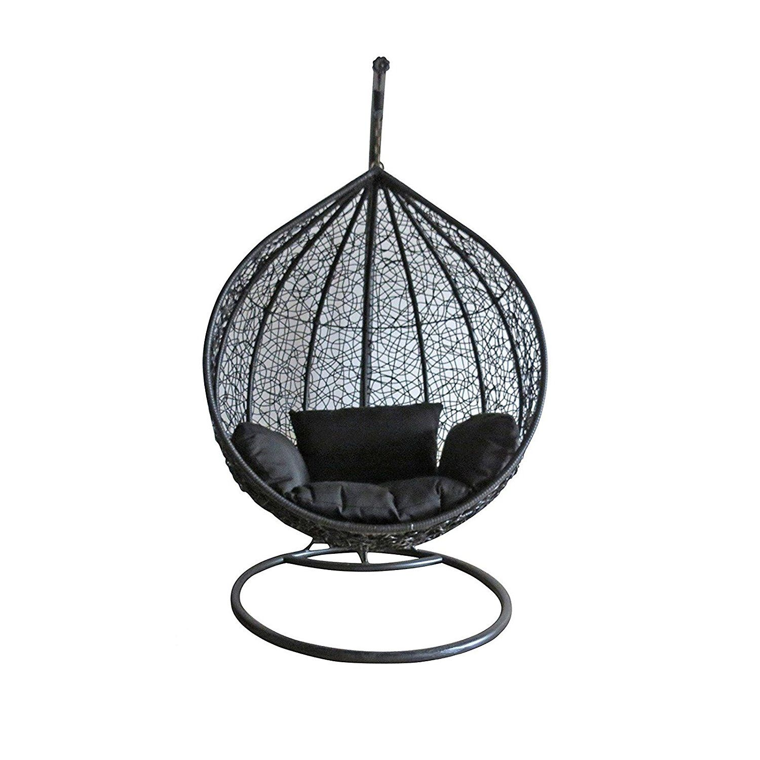 Dirty Pro ToolsTM Black Colour Rattan Swing Chair Outdoor Garden