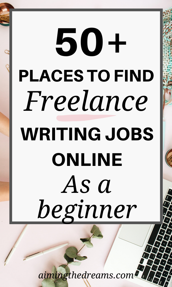 57 Best Places To Find Freelance Work With No Experience Aimingthedreams In 2020 Online Writing Jobs Finding Freelance Work Writing Jobs
