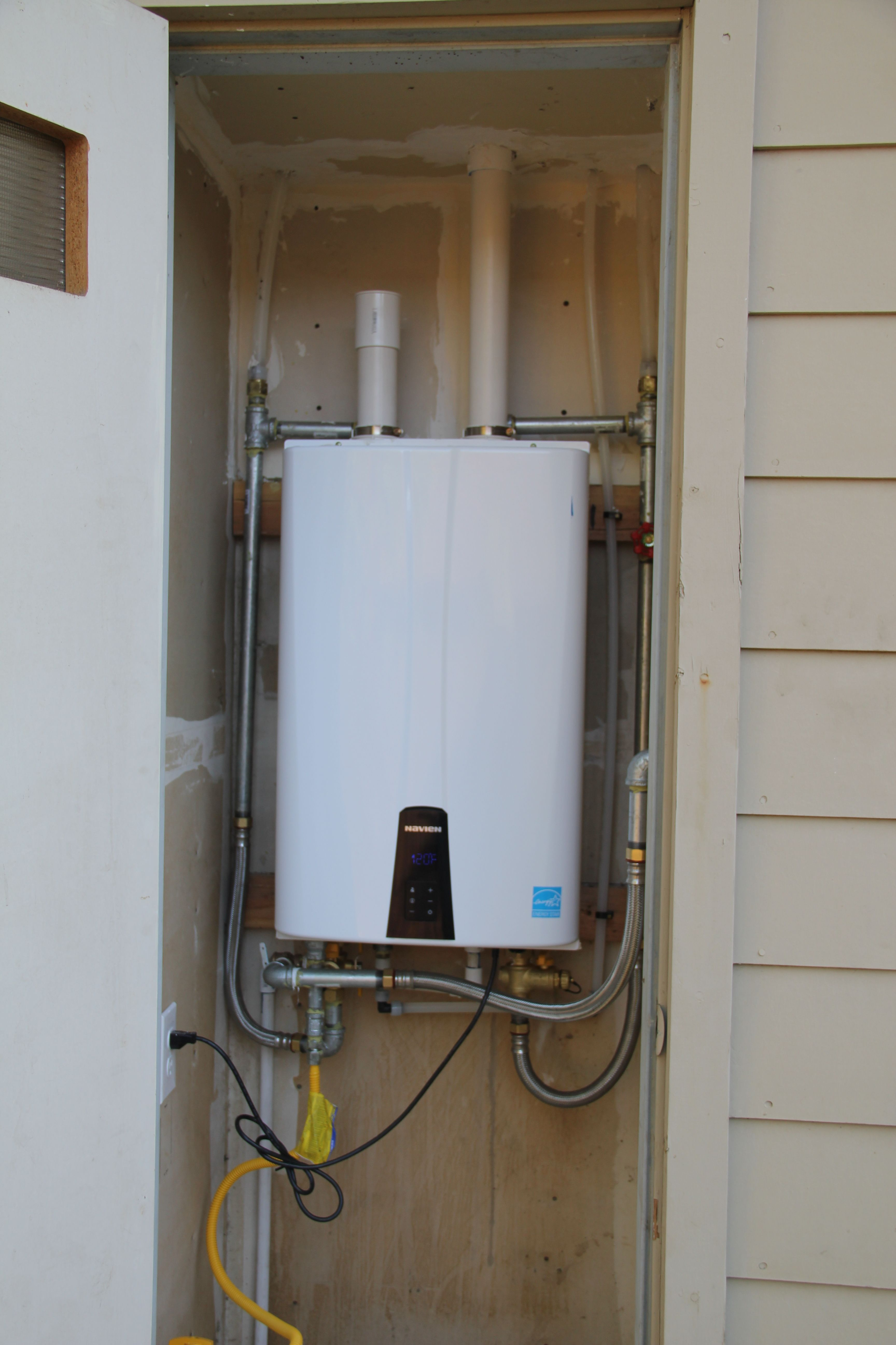 Installed New Tankless Navien Waterheater By Purl S Sheet