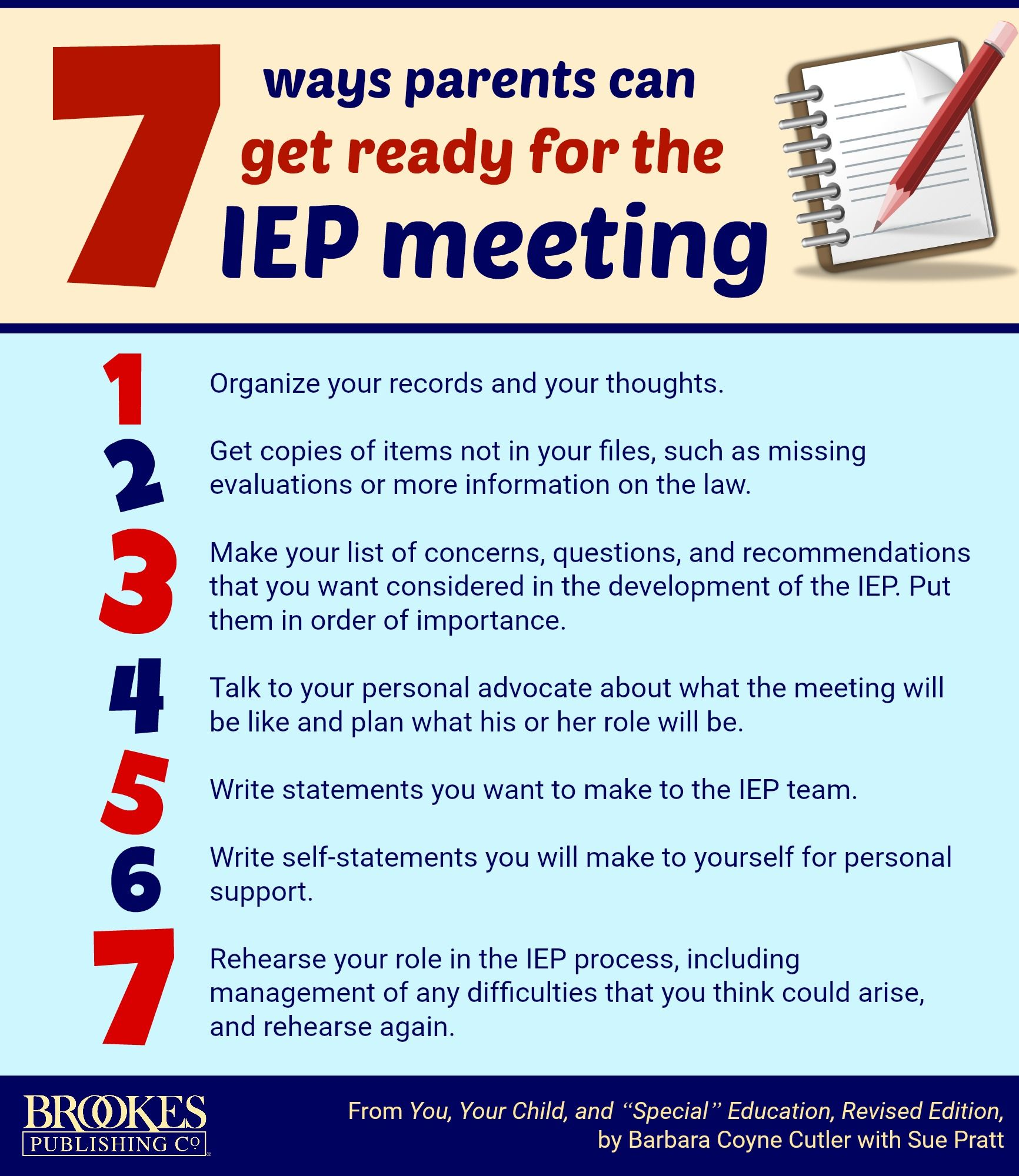 7 Things Special Education Teachers >> 7 Things Parents Can Do To Get Ready For Iep Meetings Inclusion