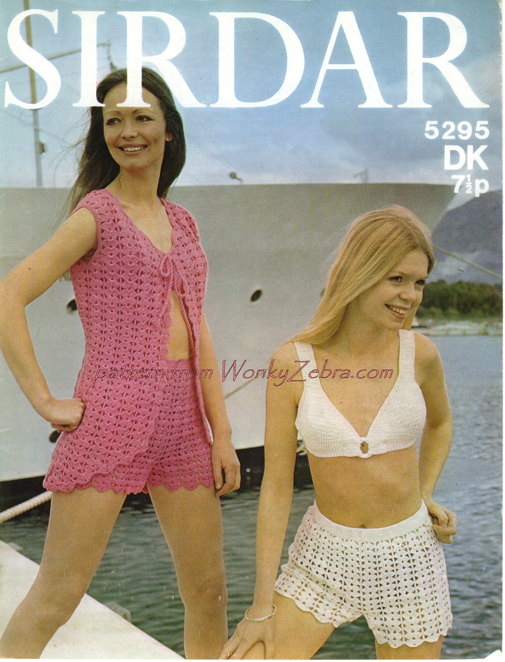 Fancy Crochet Hot Pants Pattern Festooning - Sewing Pattern for ...