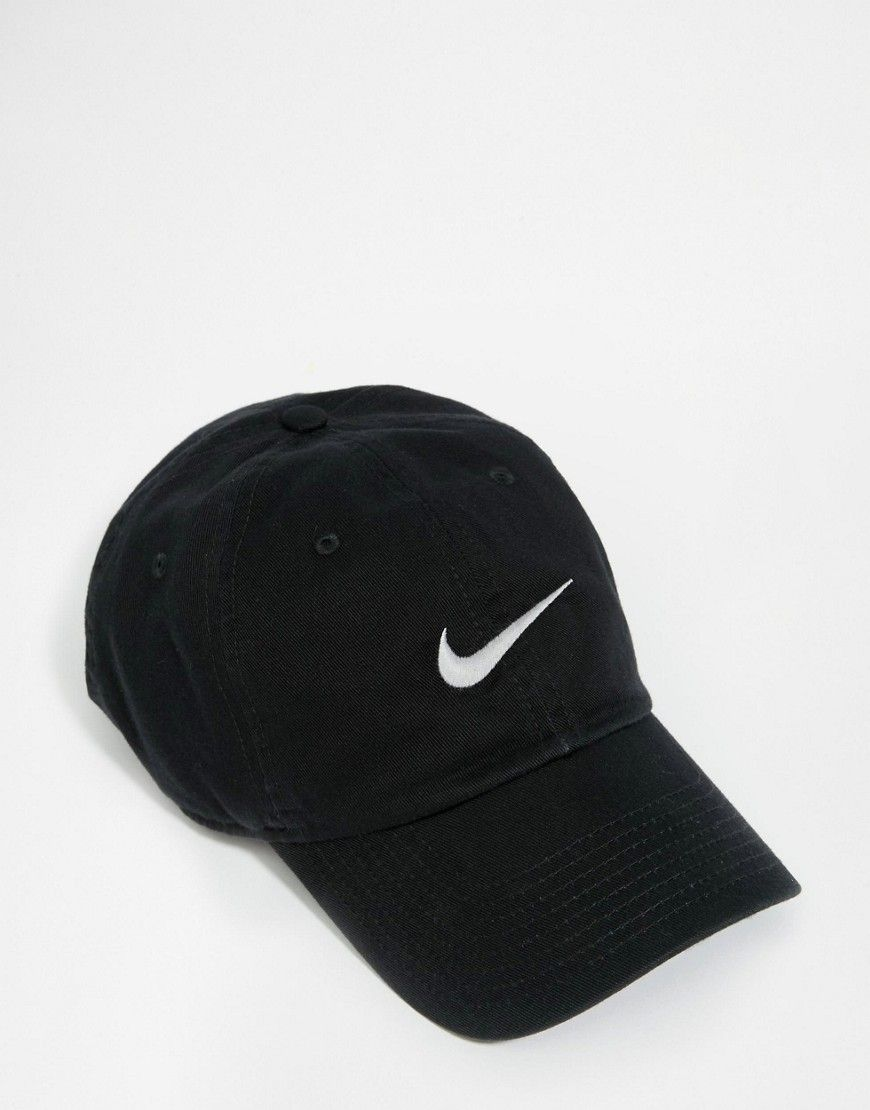 4b5588a6b98 Nike Embroidered Swoosh Cap In Black 546126-010