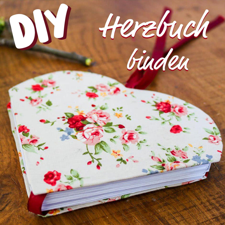 DIY – Herzbuch basteln für Muttertag als Gästebuch oder Poesiealbum