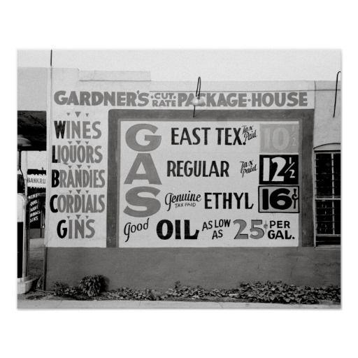 Discount Liquor Gasoline 1939 Vintage Photo Poster Zazzle Com In 2020 Gas Prices Liquor Postcard Template