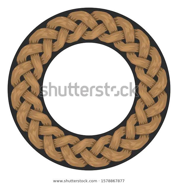 Woven Ropes Frame Border Circle Shape Stock Vector Royalty Free 1578867877 Logotipo
