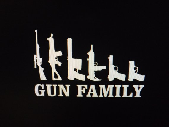 gun family vehicle wall window decal sticker 5 x 3 avery vinyl