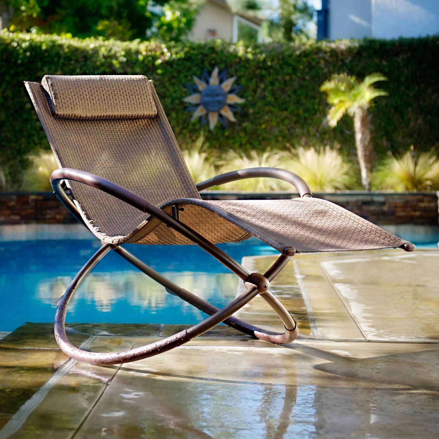 RST Brands Orbital Zero Gravity Patio Lounger Rocking Chair by RST