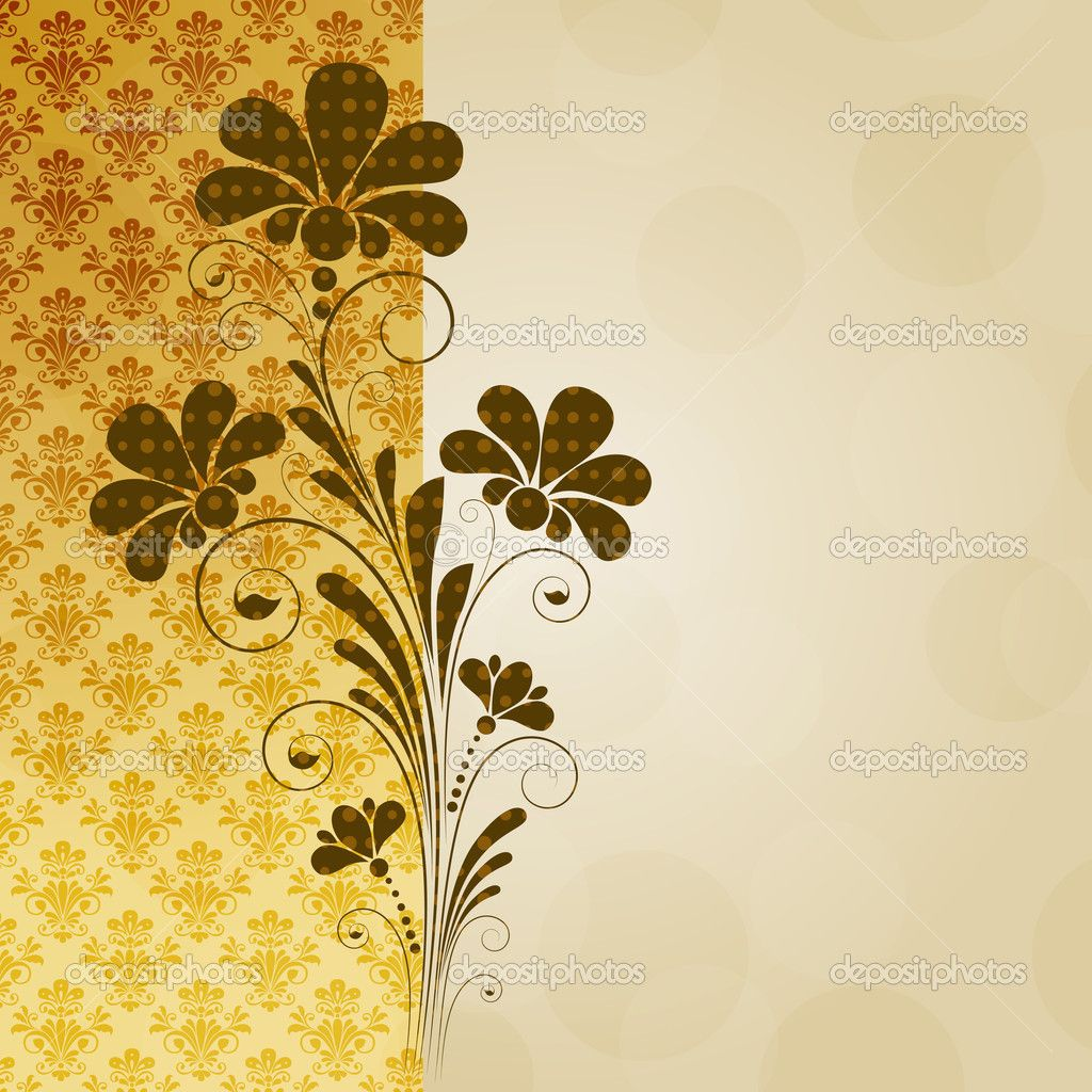 vintage flower background vector vintage floral background with decorative flowers for design - Decorative Flowers