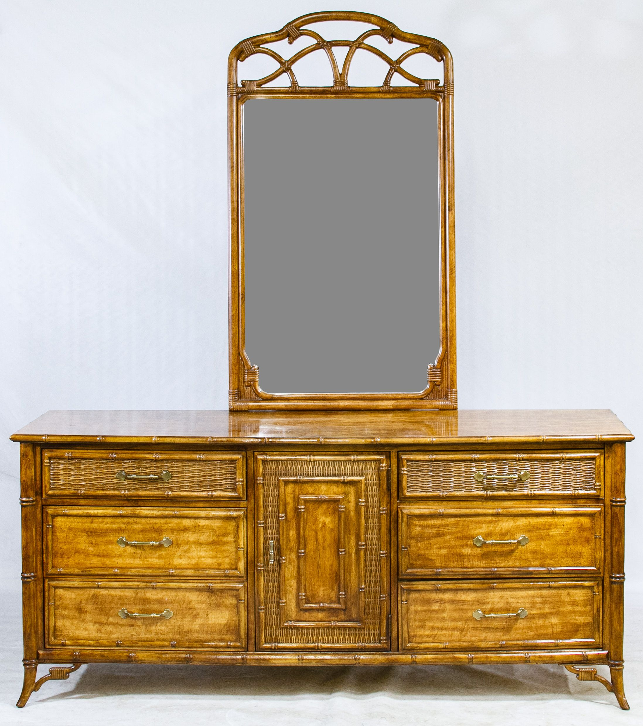 Lot 405 asian style dresser and wall mirror by stanley furniture lot 405 asian style dresser and wall mirror by stanley furniture having a bamboo amipublicfo Images