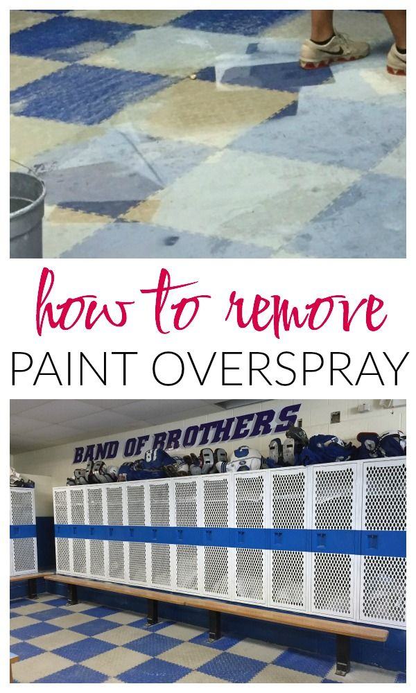 How To Remove Paint Overspray From Floors Paint Remover Diy Painting Cleaning Hacks