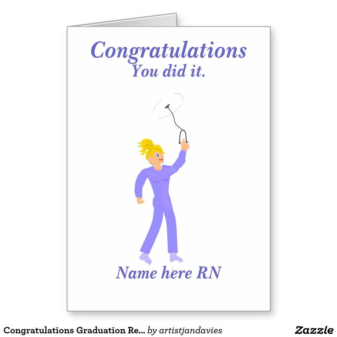Congratulations graduation registered nurse greeting card cards congratulations graduation registered nurse greeting card kristyandbryce Gallery