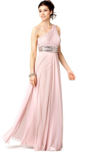 860089944c JS Collections Dress Sleeveless One Shoulder Beaded Empire Waist Evening  Gown  Lyst