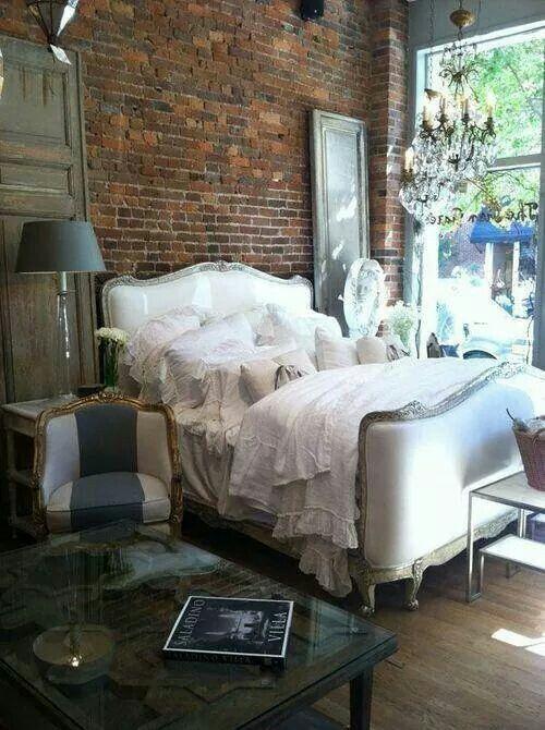 chambre coucher f minine romantique ideas for the house pinterest romantique. Black Bedroom Furniture Sets. Home Design Ideas