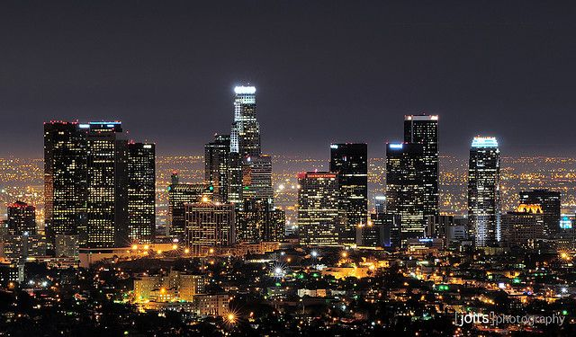 Downtown Los Angeles Skyline Los Angeles Skyline Los Angeles At Night Los Angeles