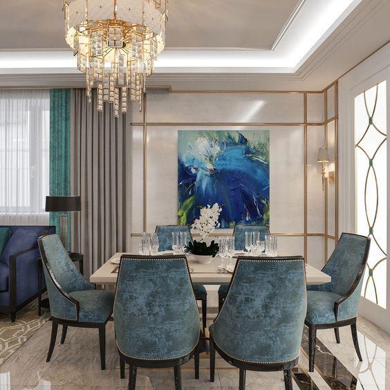 126 Custom Luxury Dining Room Interior Designs: Interiors Of Dining Area With Exclusive Furniture Designed