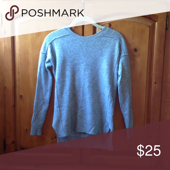 Cashmere Gray sweater Heather Gray nice weight cashmere sweater ...
