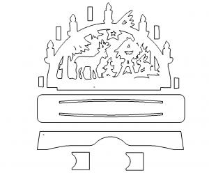 Schwibbogen Zum Stecken Candle Arch For Plugging Laubsage Vorlagen Weihnachten Weihnachten Weihnachtsschablonen