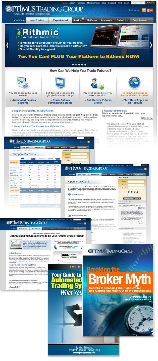Financial Web Design Broker Futures Commodity Trading Websites Washington Dc Virginia And Us Financial Website Web Design Portfolio Site