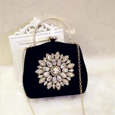 Diamond evening bags luxury wedding bags party chain bags #chainbags