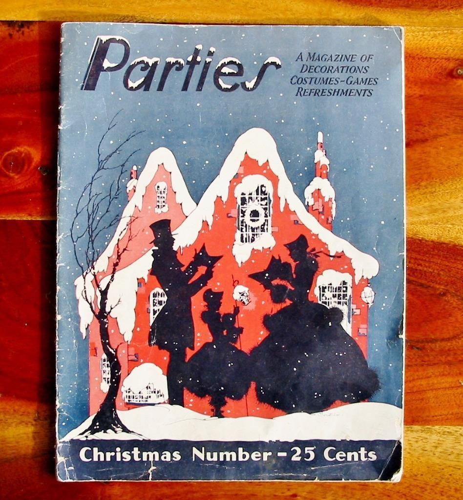 Vintage Dennison's Christmas Party Book Magazine 1930 Costumes Decorations | eBay