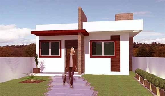 Fachadas de casas modernas de un piso buscar con google for Casas sencillas pero bonitas