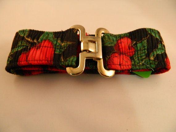 Vintage Handmade Black and Red Apple Belt by VintageBaublesnBits, $10.00