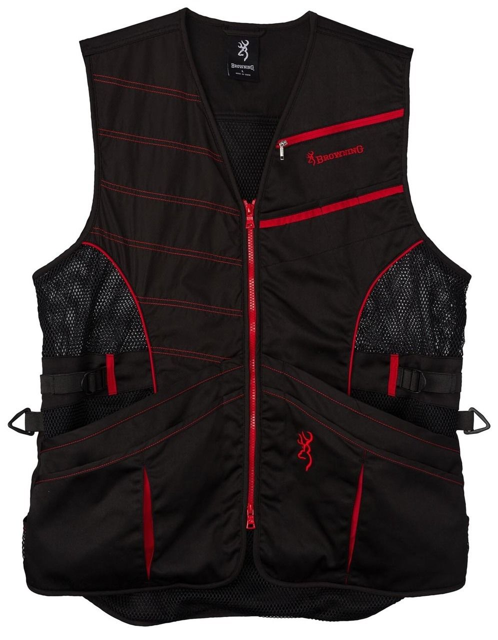 Browning Ace Shooting VestBlack/Red in 2020 Fishing