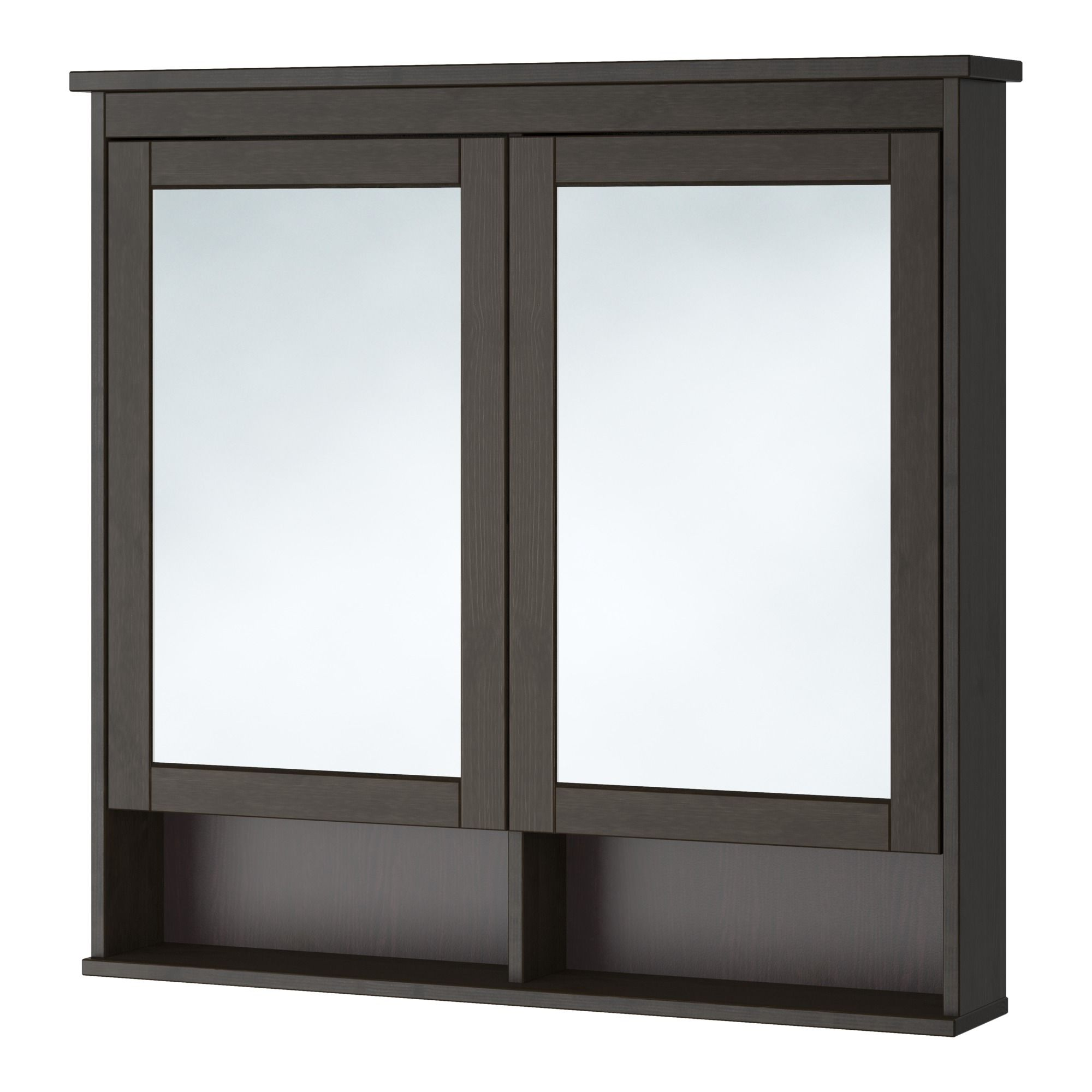 HEMNES, Spiegelschrank 2 Türen, schwarzbraun Jetzt bestellen unter ...