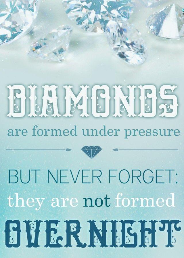 Image result for diamonds don't crack under pressure