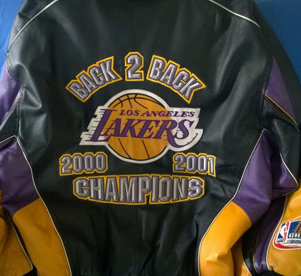 2000 2001 Back To Back Lakers Championship Jacket 2 Xl G Iii Read Description Lakers Championships Nba Jacket Lakers
