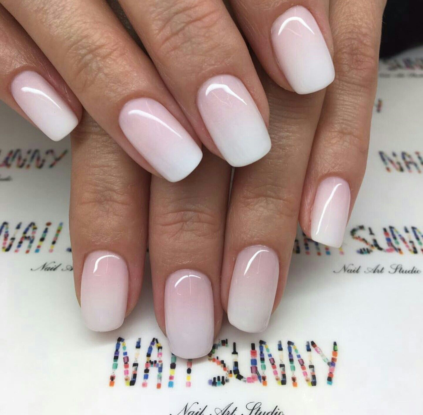 Ombre Nails Pink Ombre Nails Bride Nails Dipped Nails
