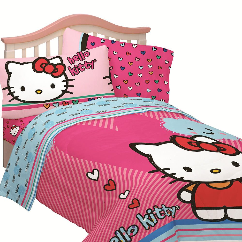 Hello Kitty Bed Set Full Size With Images Hello Kitty Bed