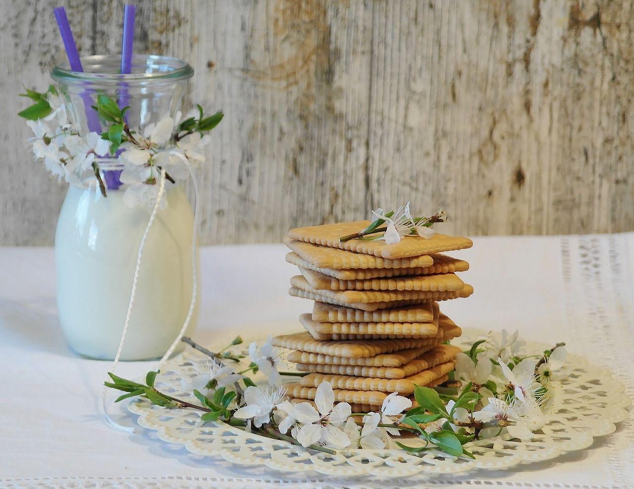 Cookies, Biscoitos De Manteiga, Vidro, Leite